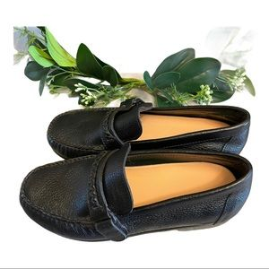 Savannah Black Comfortable Leather loafers, 7.5W